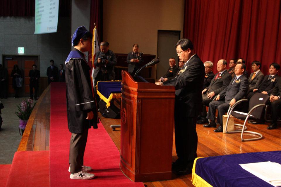 2018년 2월 8일 양정 중.고 졸업식 및 입회식